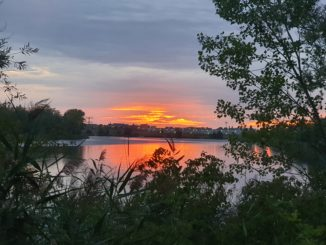 Sonnenuntergang am Hufeisensee